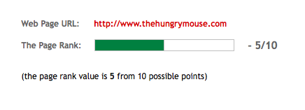 The Hungry Mouse Google Page Rank