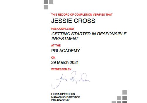 PRI Academy Training